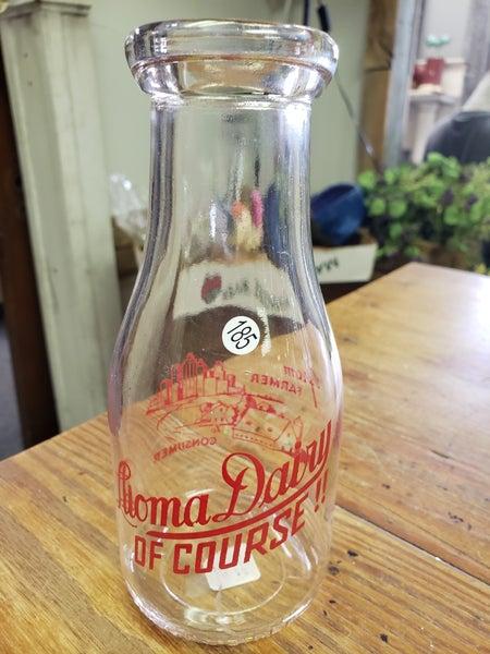 Red label dairy bottle label dairy bottle