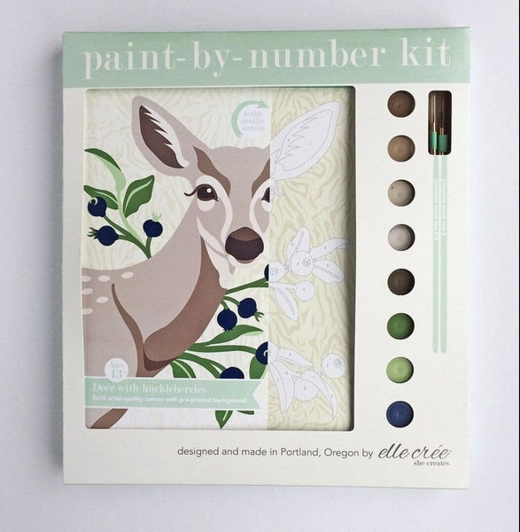 Deer W/Huckleberries Paint By Numbers