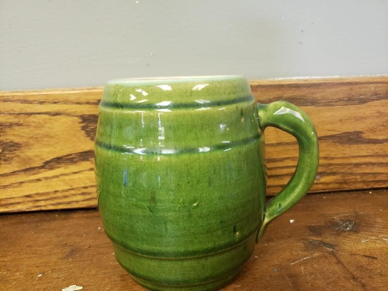 Green ceramic mug