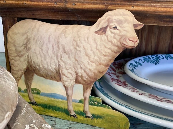 Vintage sheep cardstock cut out