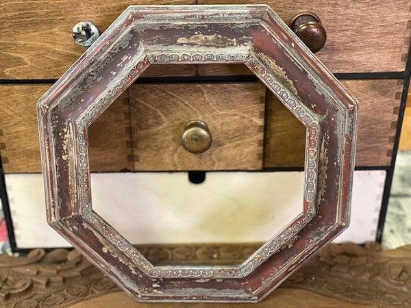 Vintage wood frame - chippy red