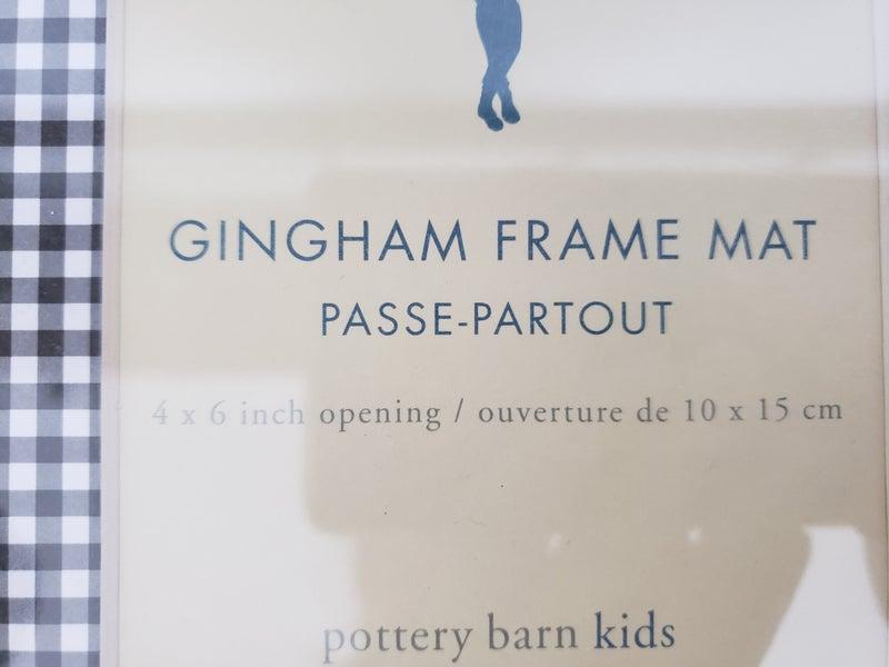 4 x 6 Gingham Frame Mat-Pottery Barn Kids