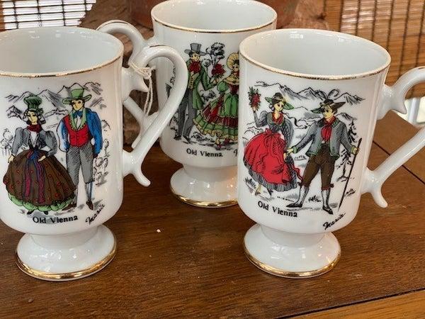1970's Set of 3 Vienna Mugs