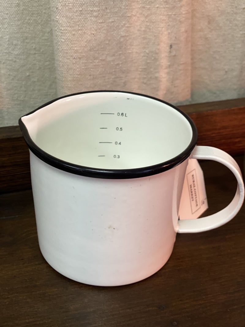 Enamelware measuring pitcher