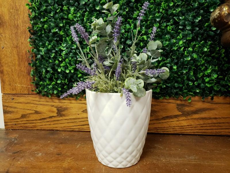faux lavender planter