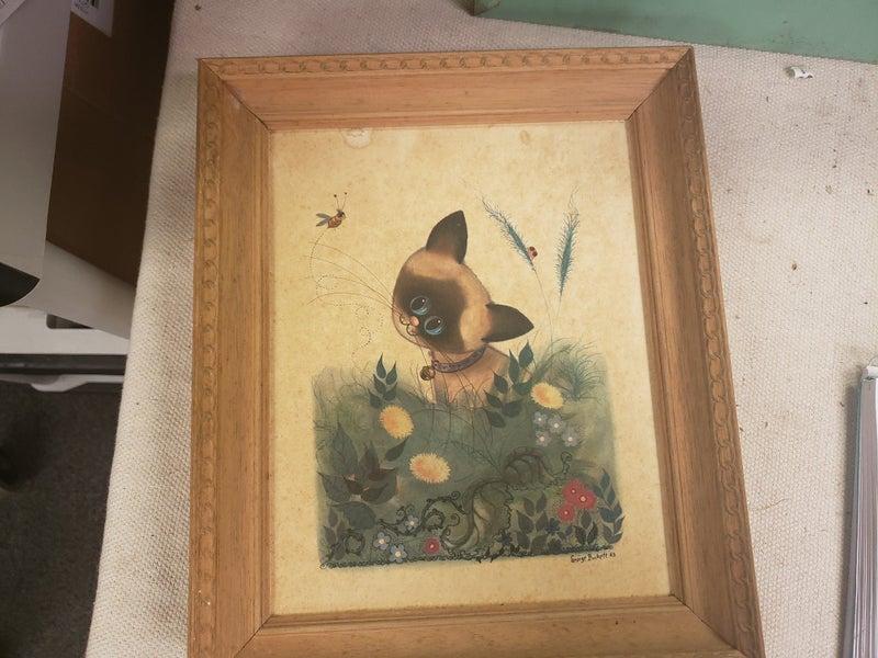 1963 George Buckett Cat Artwork