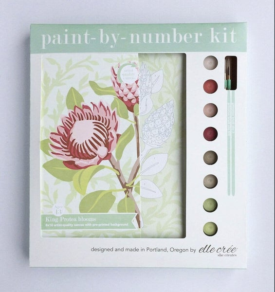 King Protea Blooms Paint By Number Kit