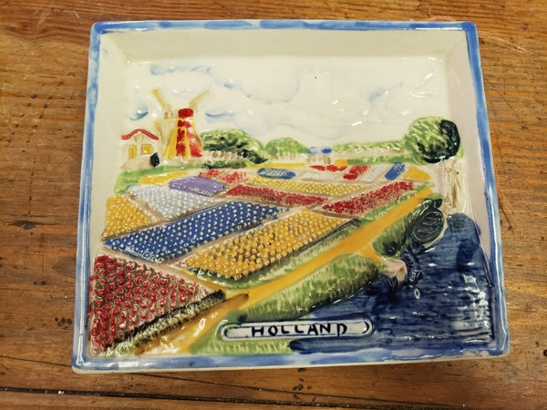 Ceramic holland plaque