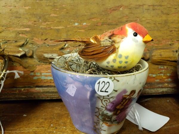 Teacup with bird