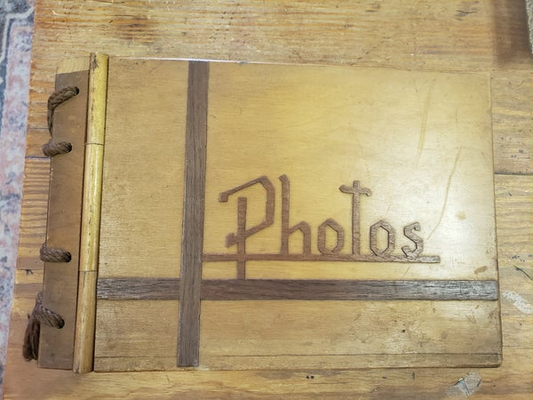Vintage Wood Photo Album