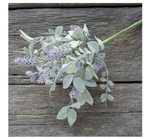 "14.5"" lavender and lambs ear bush"