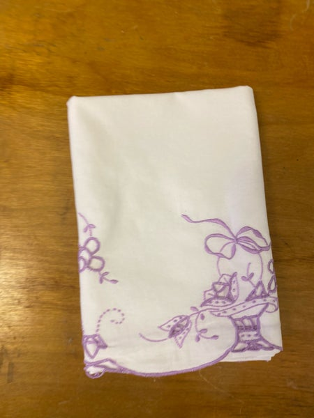 Handmade twin pillowcase