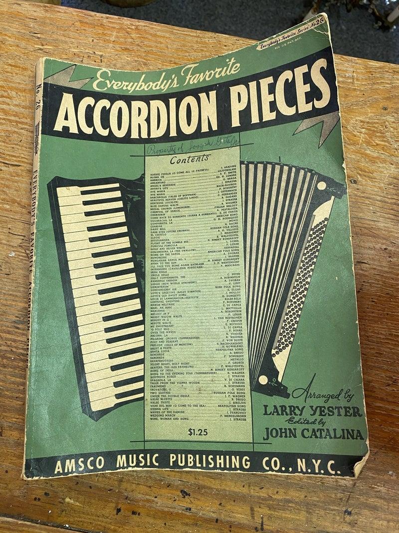 Bundles of accordion sheet music- our choice