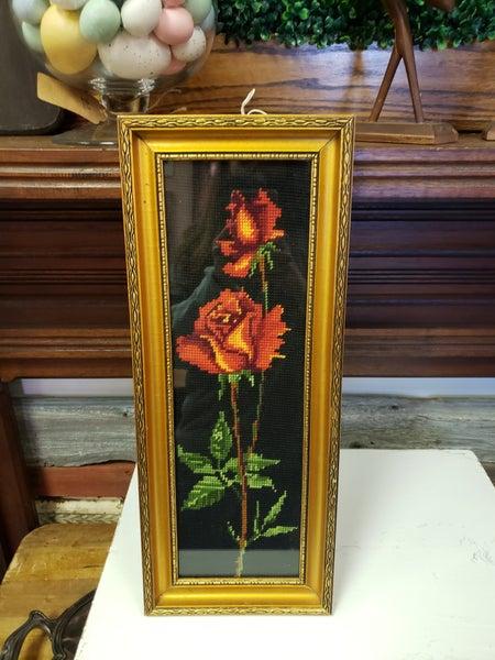 needlepoint roses
