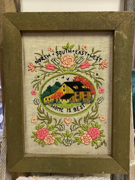 Home is best needlepoint