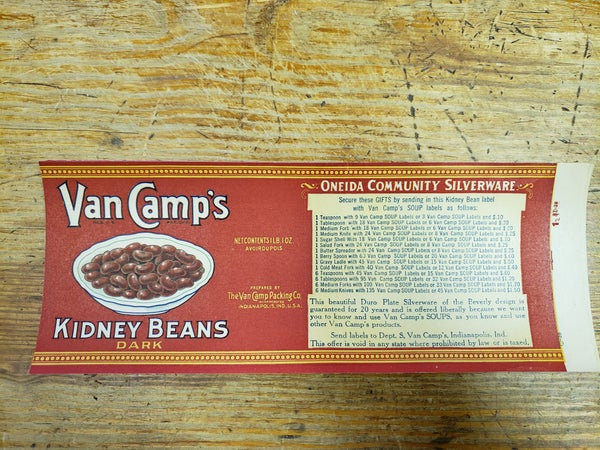 Original Van Camp's Kidney Beans-UNUSED