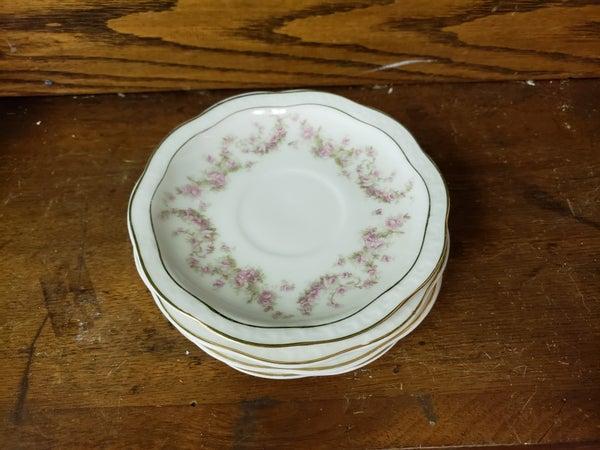 Set of 4 flower tea cup saucers