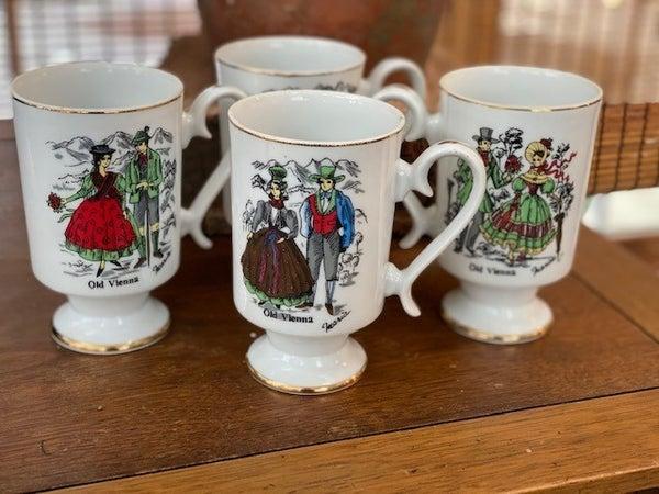 1970's Set of 4 Vienna Mugs