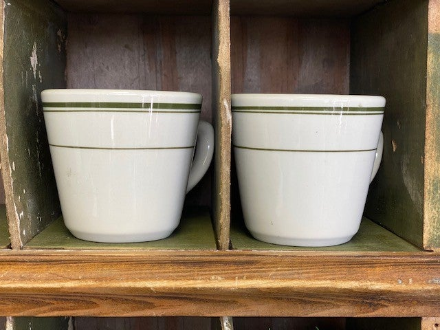 Set of two restaurant ware coffee cups