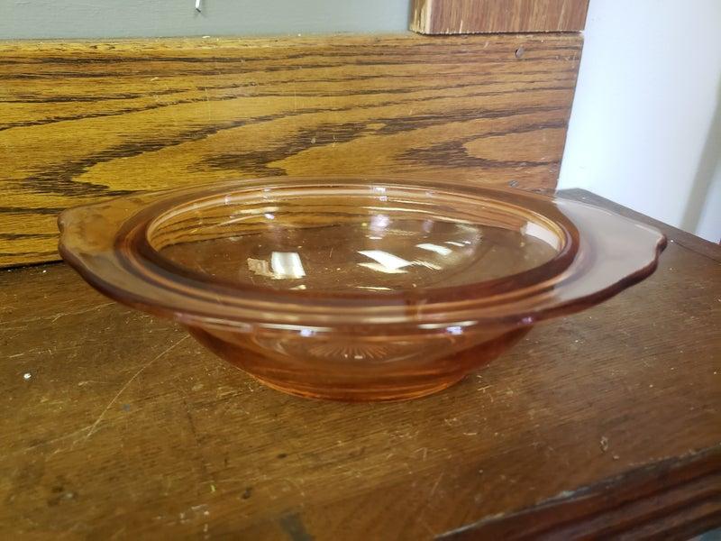 Pink Glass Dish