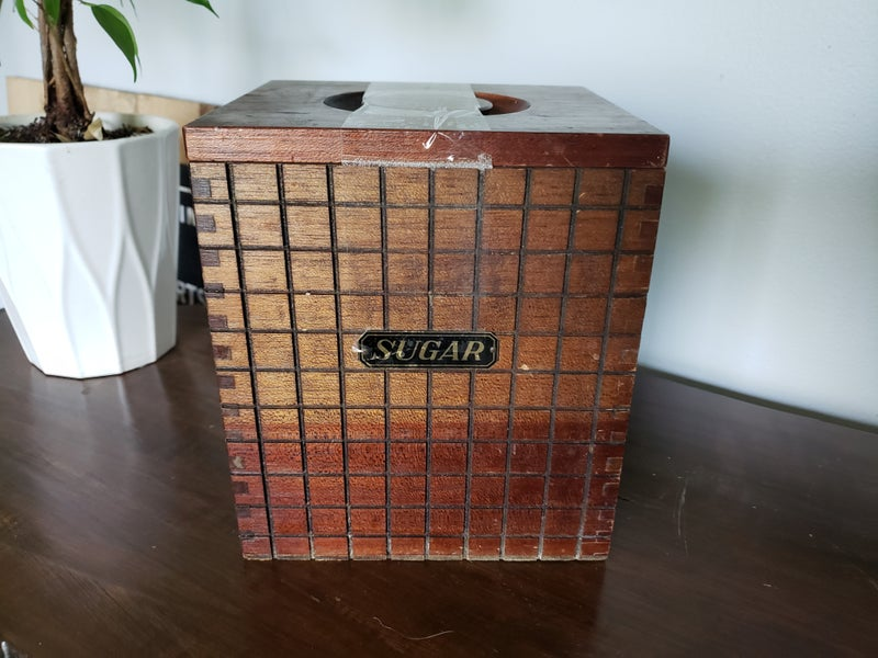 Wood Sugar Container