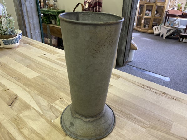 Galvanized planter vases