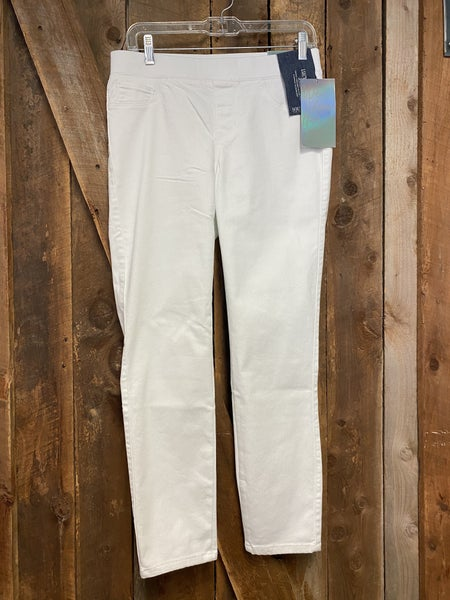 Sound Style White Pull On Pants