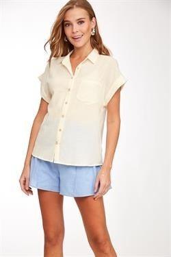 L Love Linen Button Down Shirt