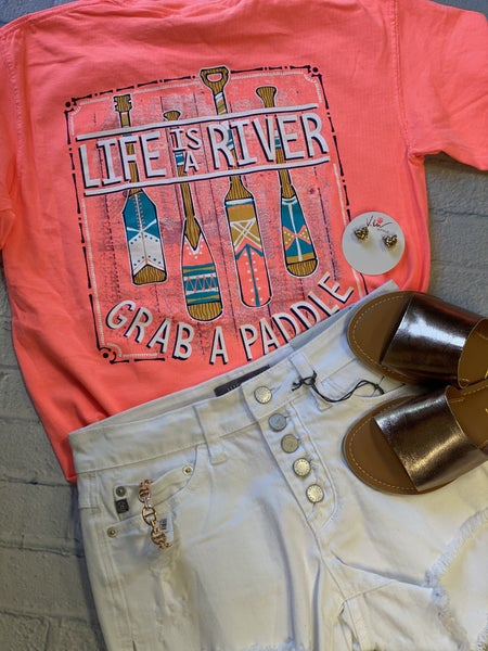 Life is a River, Grab a Paddle Tee