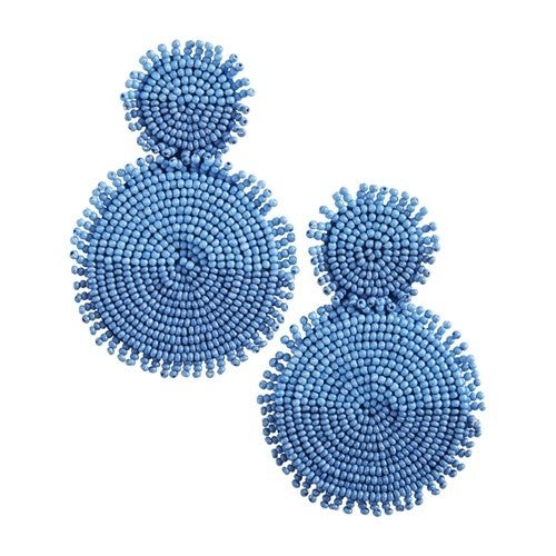 Mud Pie Tonal Blue Earrings