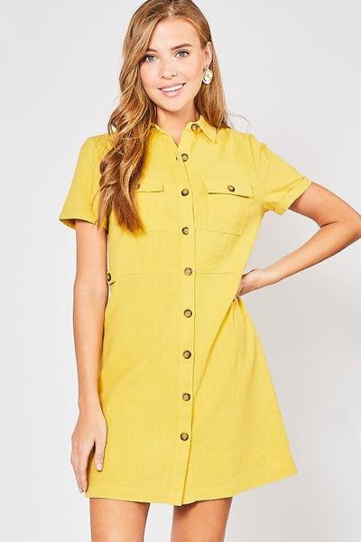Entro Cargo Button-up Dress