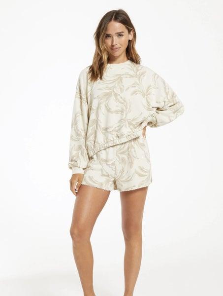 Z Supply Kyla Palm Bone Shorts