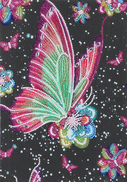 """Butterfly on Black (Partial) 9.5""""x11.5"""" (#263)"""