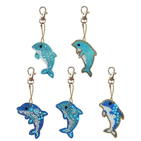 1/14: Dolphin Keychains - Set of 5 (#149)