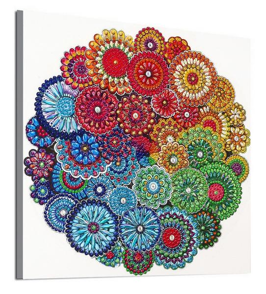 """9/16: Many Mosaics (Partial) 9.5""""x9.5"""" (#590)"""
