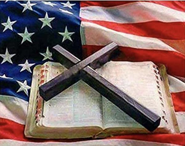 "9/4: Flag, Bible, Cross (FULL Drill  - Round diamonds) 9.5""x13.5"" (#243)"