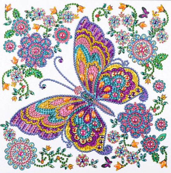"""9/11 8PM DEAL: NEW Butterfly (Partial) 9.5""""x9.5"""" (#414)"""