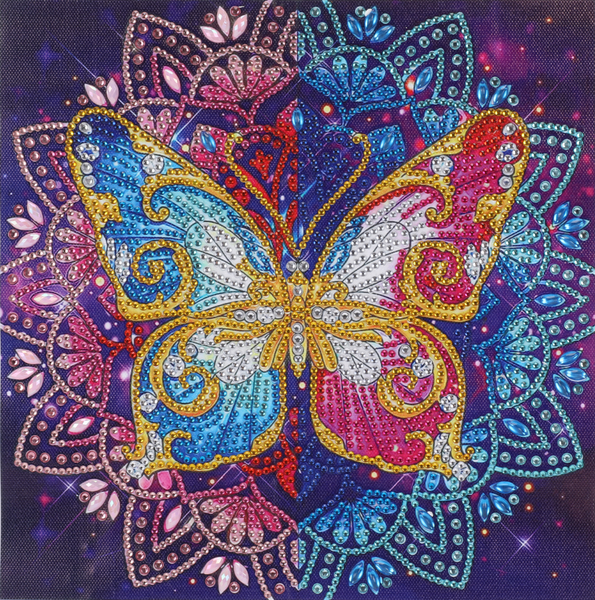 """Butterfly Mosaic (Partial) 9.5""""x9.5"""" (#503)"""