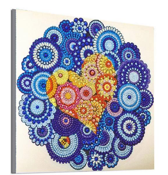 "9/21: Many Mosaics with Heart (Partial) 9.5""x9.5"" (#1539)"