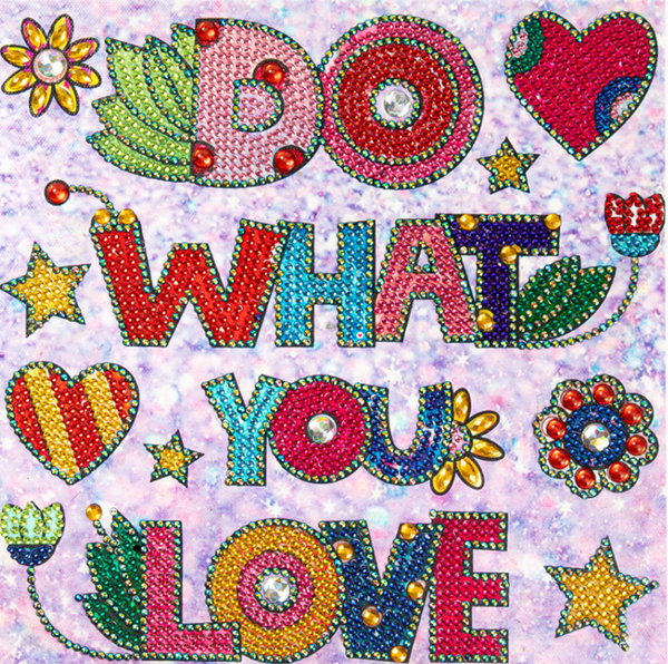 """9/12: Do What You Love (Partial) 9.5""""x9.5"""" (#412)"""