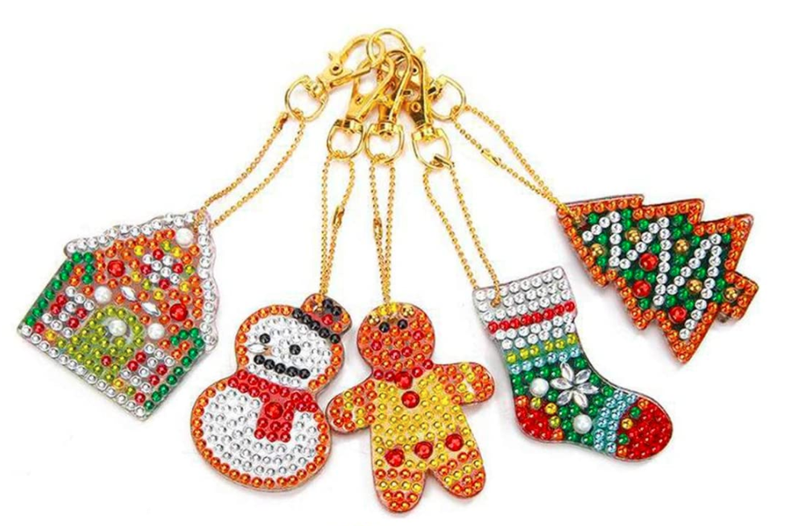 7/16: Christmas Keychains - Set of 5 (#1403)