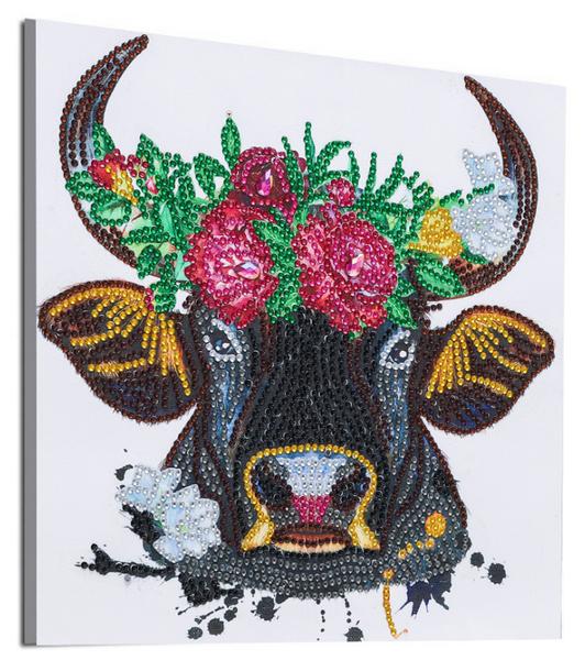 "9/16: Pretty Bull (Partial) 9.5""x9.5"" (#1703)"