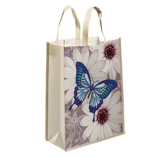"""4/20: Blue Butterfly Tote Bag 11""""x13"""" (#1480)"""