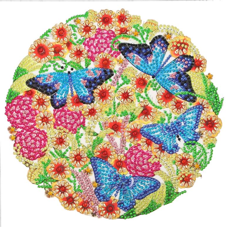 "9/23: Circle of Butterflies (Partial) 9.5""x9.5"" (#1526)"