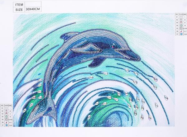 """8/26: Dolphin (Partial) 9.5""""x11.5"""" (#1199)"""