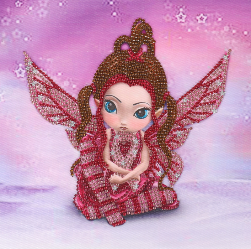 """Red Fairy (Partial) 9.5""""x9.5"""" (#1587)"""