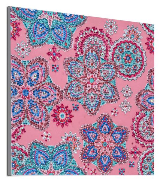 "9/7: Mosaics on Light Pink (Partial) 9.5""x9.5"" (#556)"