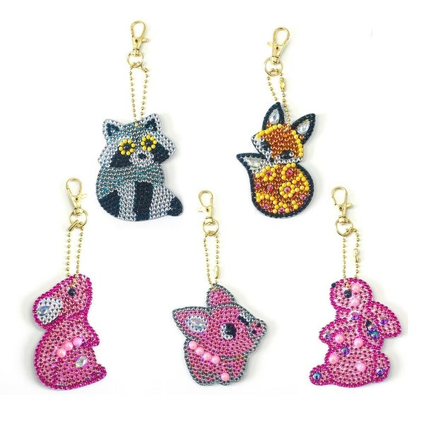 9/23: Forest Animal Keychains - Set of 5 (#115)