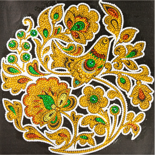 """Yellow Flowers Mosaic (Partial) 9.5""""x9.5"""" (#424)"""