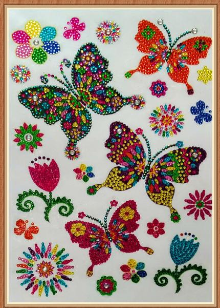 """9/23: Butterflies (Partial) 9.5""""x11.5"""" (#1635)"""